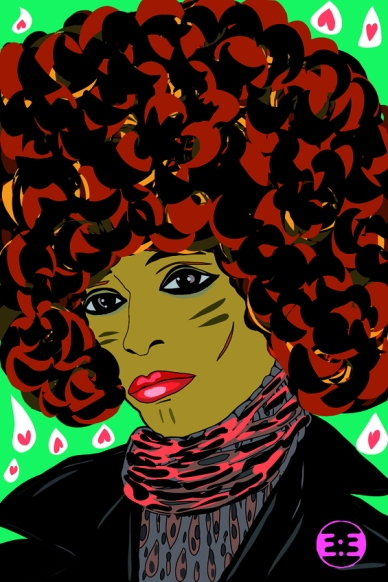 Angela Davis by Eva Mirror